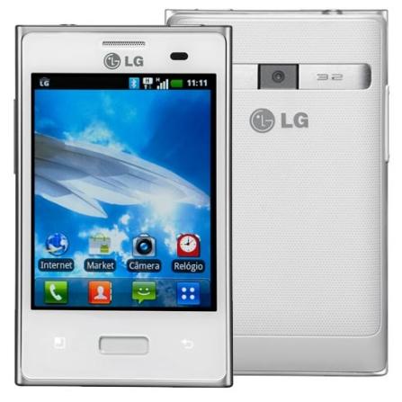 Smartphone LG Optimus Branco L3 E400, Bivolt, Bivolt, Branco, 3.2'', False, 1, S, True, True, True, True, True, True, I, Mini Chip