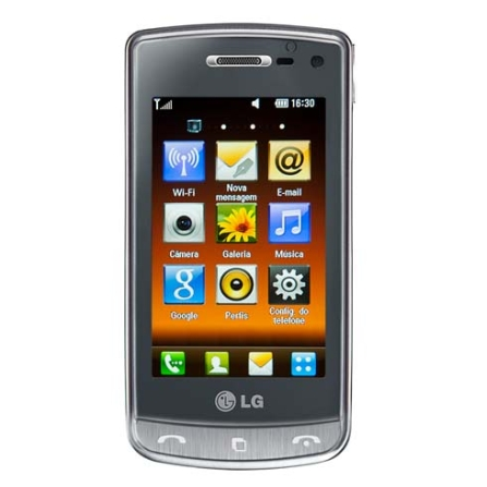 Celular 3G Cristal Titânio com Câmera de 8.0MP / Display Full Touch Screen de 3
