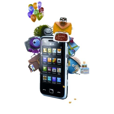 Smartphone GSM GM750 Titânio c/ Windows Mobile LG