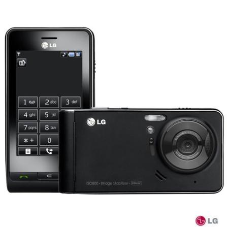 Celular KE990 Viewty com MP3 Player / Câmera 5MP com Flash Xenon / Display Touch Screen / Visualizador de Arquivos / Car