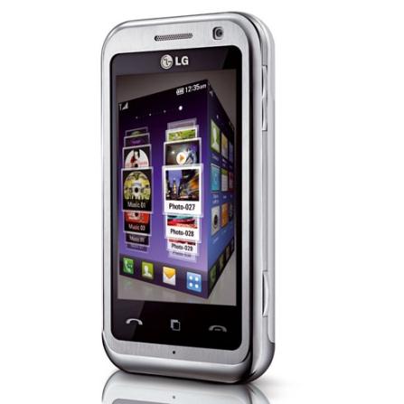 Celular 3G c/ 8GB/Bluetooth/Wi-Fi/Display Touch LG