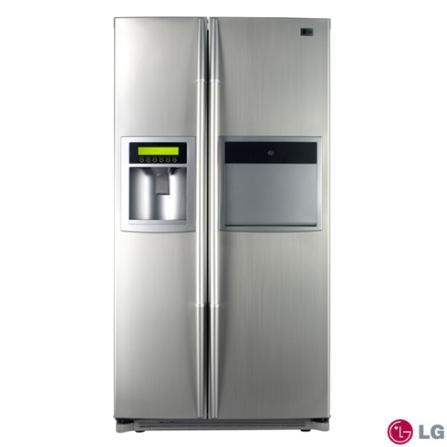 Refrigerador Side by Side 800L Home Bar e Dispenser de Água/Gelo Titanium LG - LR27SPT1, 110V, Prata, Acima de 500 litros, 800 Litros, 800 Litros, 289 Litros, 511 Litros, Classe A, Sim, Sim, 12 meses, 02 Portas, Side by Side