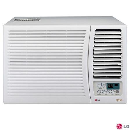Condicionador de Ar Janela 7.500Btus / Eletrônico / Frio / Branco - LG - WGE076FG, 110V, 220V, LA, 7.500 BTUs, Janela, 5.000 a 8.500 BTUs
