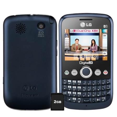 Celular Dual Chip LG X350 com TV Digital
