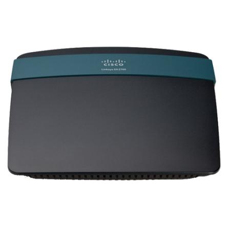 Roteador Linksys Wireless N600 Dual Band com porta Gigabit Preto - Linksys - EA2700