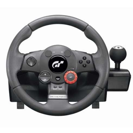Volante Driving Force GT Preto para PS2 e PS3 - Logitech - 941000020