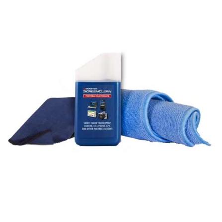 Limpador de Tela 45ML Azul para portáteis como GPS, Câmeras Digitais, Tv e DVDs portáteis, celulares  - Monster - MCCLNK