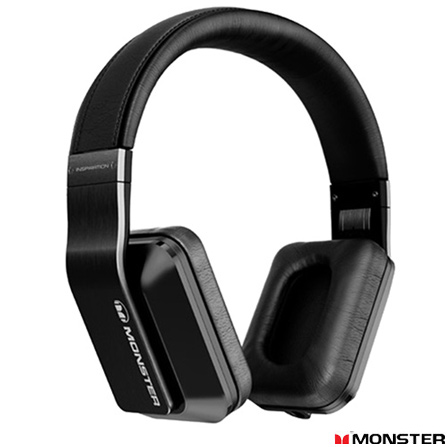 Fone de Ouvido Inspiration com Noise Isolation Preto - Monster - MHINSOEBKNI