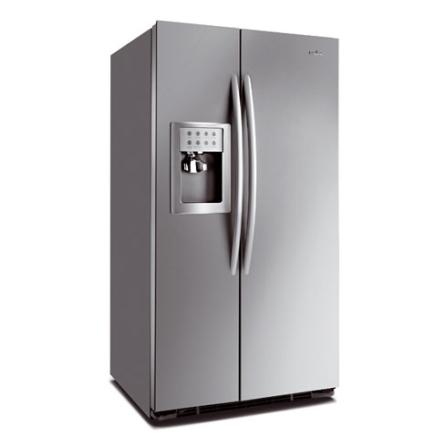 (ver MAMOZ26LGXGS) Refrigerador Side By Side 629L Frost Free com Painel de Controle Externo / Dispenser de Água e Gelo - Inox -, 110V