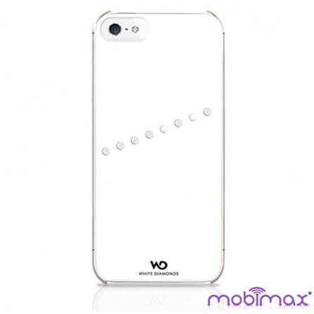 Capa Swarovsk Sash Branca para iPhone 5 - Mobimax