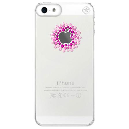 Capa para iPhone 5 com Elementos Rosas Swarovski Shadow - Mobimax - 22-00-19-10