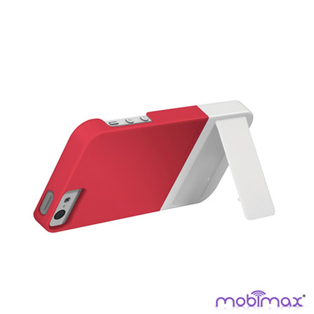 Capa para iPhone 5 Kick Rosa e Branca Mobimax, Rosa e Branco, 06 meses