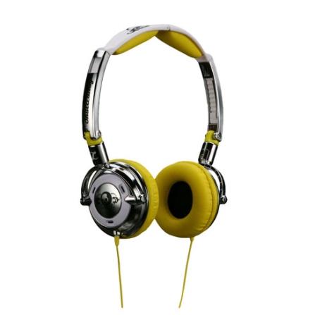 Fone de Ouvido Cromado e Amarelo - Skullcandy - CH88SKC22, Amarelo, 12 meses
