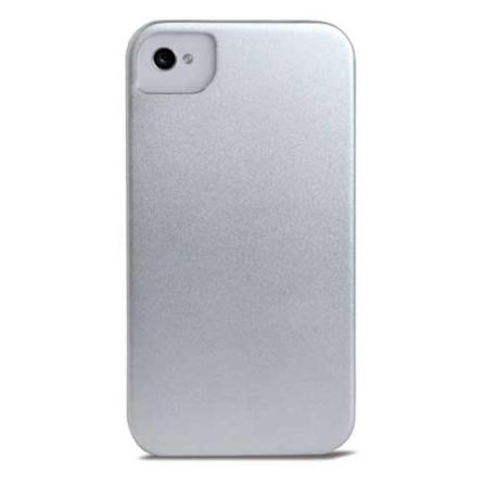 Capa de Alumínio Prata para iPhone 4 / 4S - Mobimax - MHIPC4SL