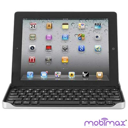 Teclado de Alumínio Prata para iPad 2, 3 e 4, Prata