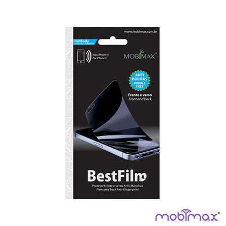 Protetor de Tela para iPhone 4 Anti Bolhas Mobimax, Não se aplica