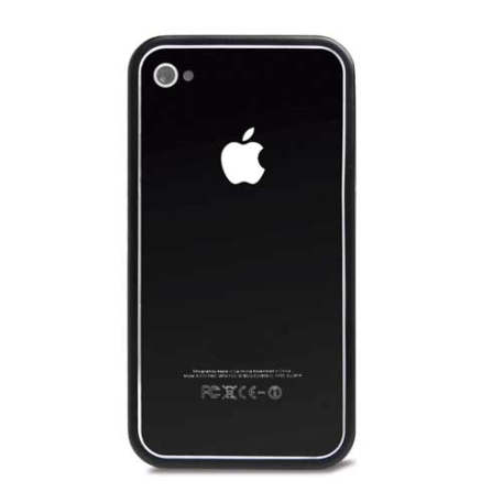 Capa Bumper Preto para iPhone 4 / 4S - Mobimax - MMBI4SBK