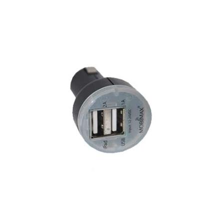 Carregador Veicular p/ Eletrônicos via USB Preto Mobimax - MMCPDPBK, Bivolt, Bivolt, Preto, 01 mês