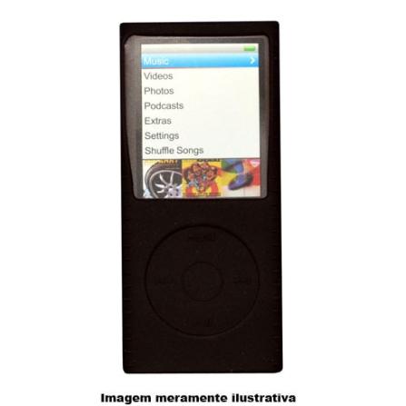 (ver Promocao) Capa em Silicone Preta para iPod nano 4 Geracao - Mobimax - MMSCN4BK, Preto, 12 meses