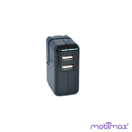 Carregador de Tomada para iPad, iPhone e iPod Preto Mobimax - MMUPWR2BK, Bivolt, Bivolt, 01 mês