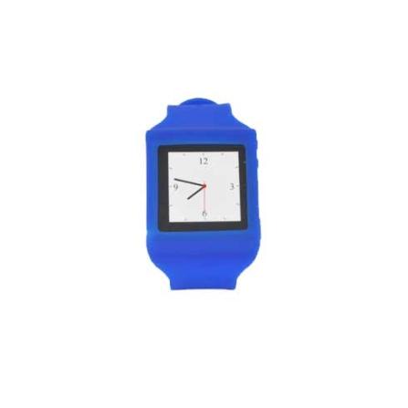 Capa Relógio Azul de Silicone para iPod Nano - Mobimax - MMWCN6BL, Azul, 12 meses
