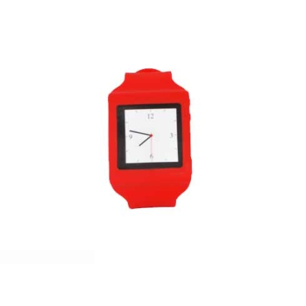 Capa Relógio de Silicone para iPod Nano Mobimax, Vermelho, 12 meses