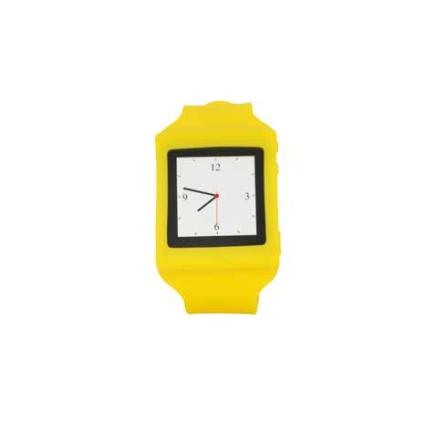Capa Relogio de Silicone para iPod Nano Mobimax, Amarelo, 12 meses