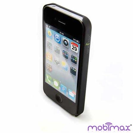 Capa para iPhone 4 de Policarbonato Preto Mobimax - MPCIP4BK, 01 mês