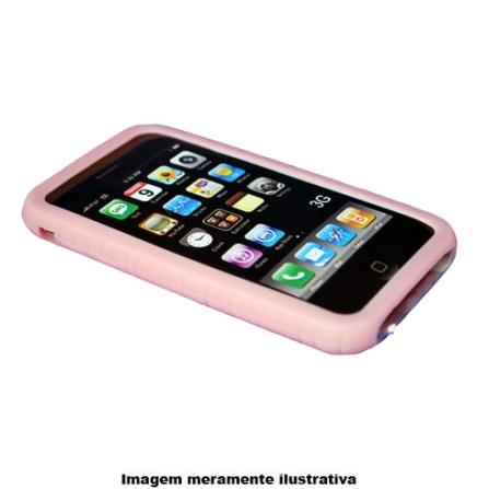 Capa em Silicone Rosa para iPhone 3ª Geração - Mobimax - MSCIPHPK, Rosa, 12 meses