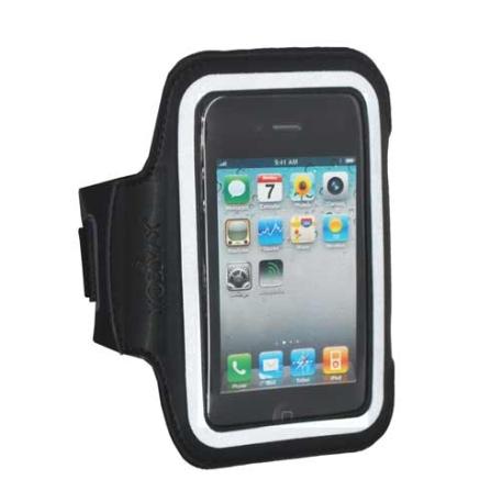 Braçadeira Fitness Armband Preto para iPhone 4, iPhone 4s e iPod Touch 4 - Mobimax - MSPARMBG