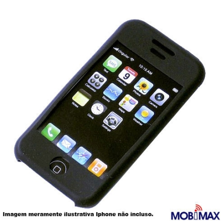 Capa de Silicone Preta para iPhone - Mobimax - SCIPBK