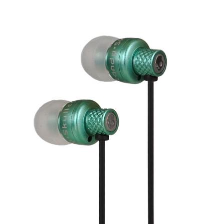 Fone de Ouvido Metalico Titan / Acabamento de Alta Durabilidade / Verde - Skullcandy - SCTITANMETGR, Verde, Intra-auricular, 12 meses