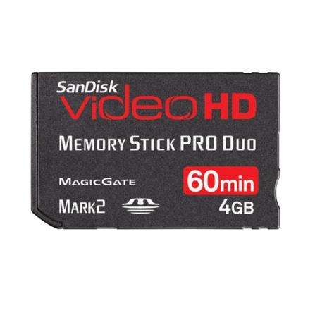 Cartão de 4GB p/ Filmadoras Digitais Sandisk, Cartões de Memória, 04 GB, 06 meses