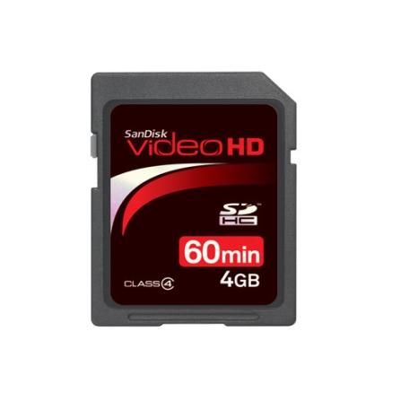 Cartão Memória SD p/ Filmadora Digital 4GB SanDisk, Cartões de Memória, 04 GB, 06 meses