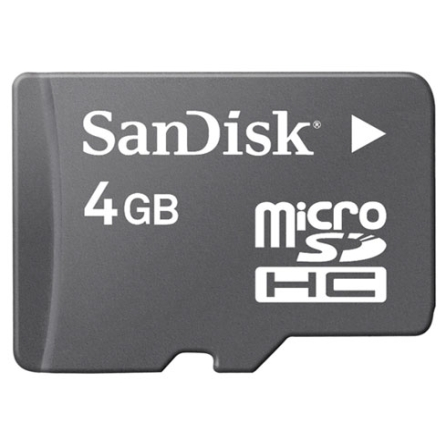 Cartão de Memória 4GB Micro SD - SanDisk - SDSDQ4096A11