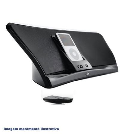 Dock iGroove para iPod / Compacto / Recarrega a Bateria do iPod / Saída S-Vídeo / Controle Remoto IR / Preto - Klipsch -