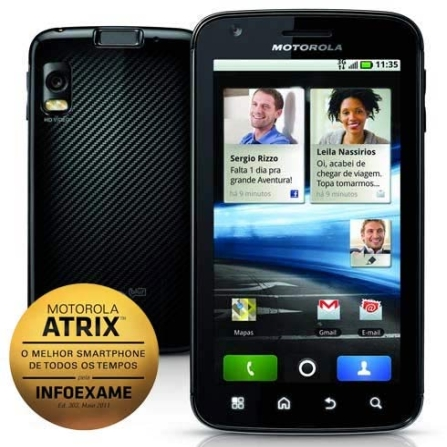 Smartphone Motorola Atrix Android 2.2 com 3G+Wi-Fi