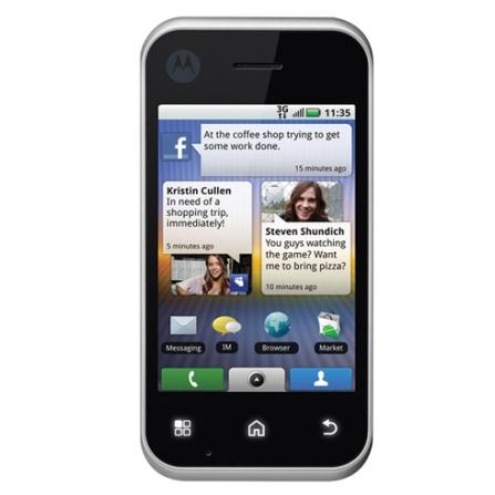 Celular 3G BackFlip Prata com Sistema Operacional Android / MousePad Câmera de 5MP / Display Full Touch 3.1