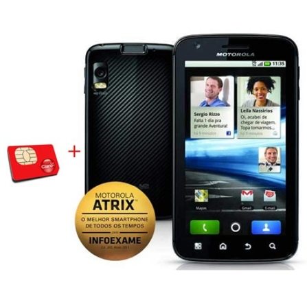Smartphone Motorola Atrix MB860 com Android 2