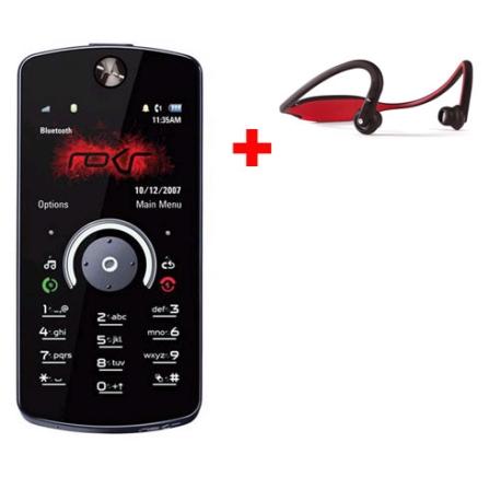 Celular ROKR E8 Preto com Câmera 2.0 MP / Music Player / Rádio FM / Bluetooth / Tela Widescreen / Fast Scroll / Memória