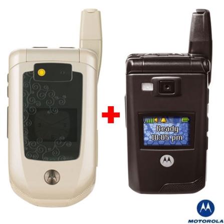 Nextel Avulso i885 com Câmera de 2MP, Visor Colorido, GPS integrado, Bluetooth + Nextel i876 com Câmera de 1.3MP, Visor