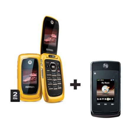 Nextel Motorola i897 Ferrari + Nextel i9 Black