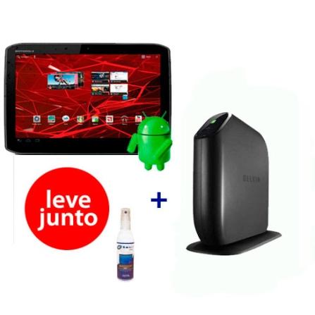 Tablet Motorola Xoom 2 + Roteador + Limpador