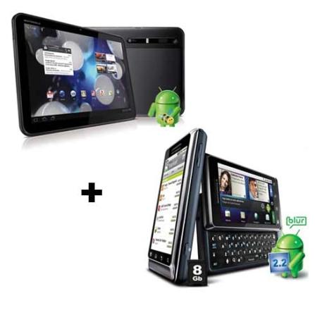 Tablet Android 3.0 + Smartphone Hotspot Motorola
