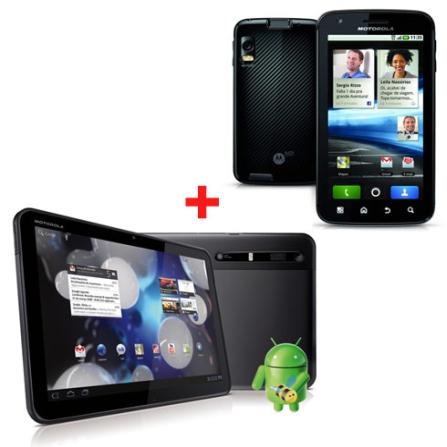 Tablet Xoom Wi-Fi + Smartphone Motorola Atrix