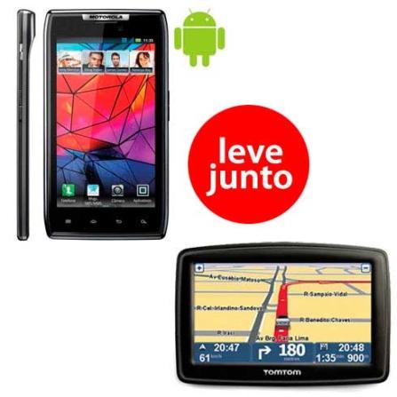 Smartphone Motorola Razr XT910 + Navegador GPS