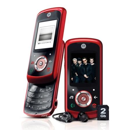 Celular GSM EM25 Vermelho com Conteúdo Exclusivo U2 / Câmera de 1.3 MP / MP3 Player / Bluetooth / Rádio FM com RDS / Car