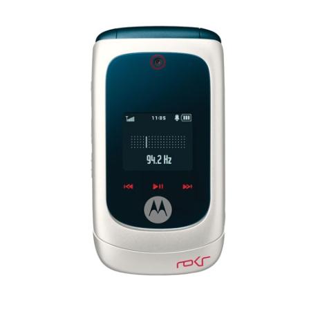 Celular GSM Clam Shell EM28 Branco com Câmera 1.3 MP / MP3 Player com Motoid / Rádio FM / Bluetooth / Cartão de 1GB- Motorola