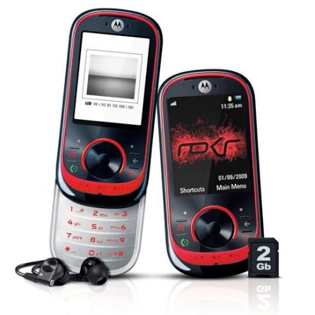 Celular GSM EM35 Preto e Vermelho / Câmera de 3.1 MP / MP3 Player com MotoID / Bluetooth / Rádio FM com RDS / Cartão de