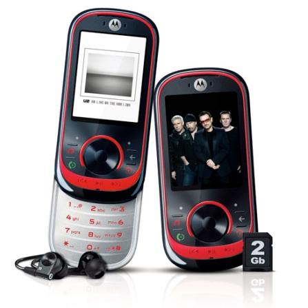 Celular GSM EM35 c/ Conteúdo Exclusivo U2 Motorola